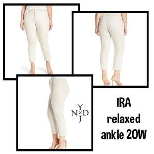 NYDJ IRA Relaxed Ankle 20 W beige NWT